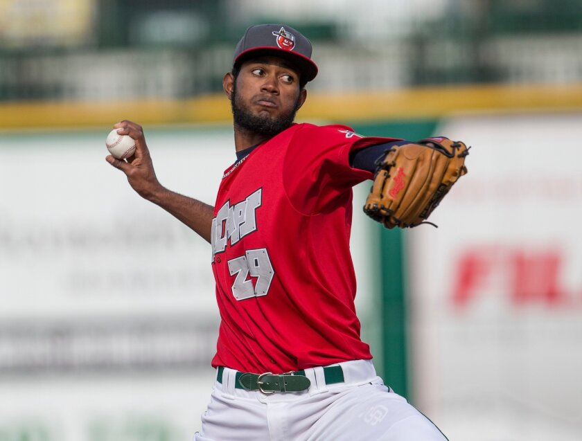 Right-hander Tayron Guerrero will flash his 100-mph fast in the All-Star Futures Game. He is one of two Padres prospects making the trip to Minnesota in July.