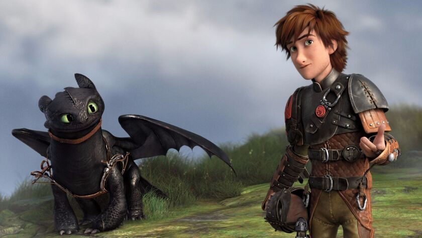 """Toothless and Hiccup appear in """"How to Train Your Dragon 2."""""""