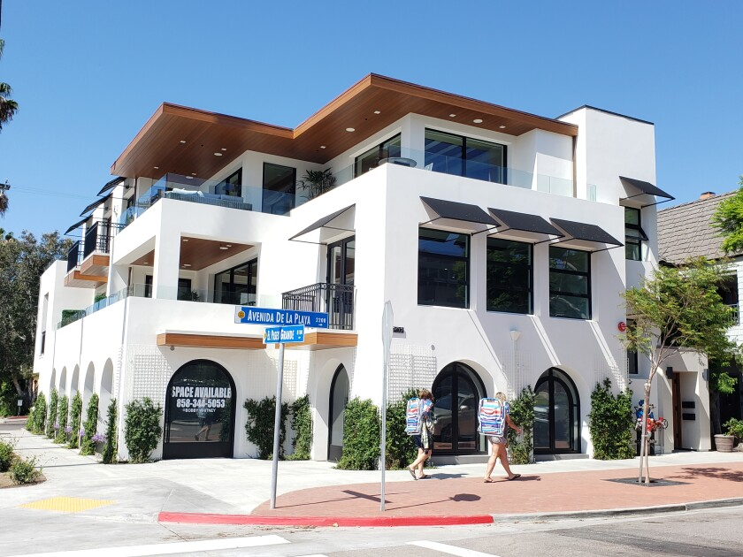 "The ""Whitney project"" is a mixed-use development at 2202 and 2206 Avenida de la Playa in La Jolla Shores."