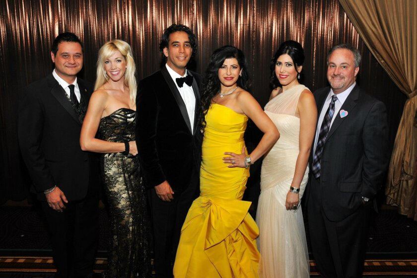 From left, Ramin Pourteymour (Lifetime Achievement Award winner), Tara Tarrant, Dr. Sean Daneshmand (event co-chair, Miracle Babies founder) and Marjan Daneshmand (event chair, Miracle Babies co-founder, and honoree), Ladan Mortazazi, Kevin Robertson (Miracle Babies executive director)