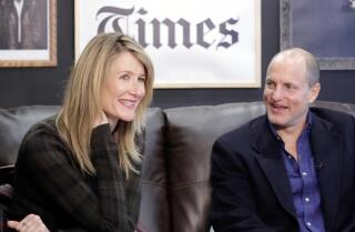 Laura Dern and Woody Harrelson on making 'Wilson' and beating him up