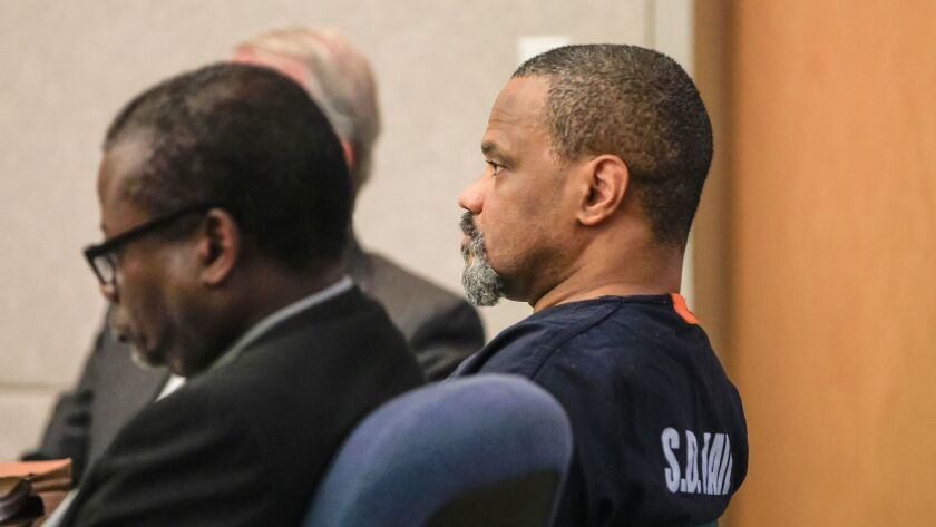 SAN DIEGO, CA January 24th, 2018 | Weldon McDavid listens during his sentencing Wednesday in Superio