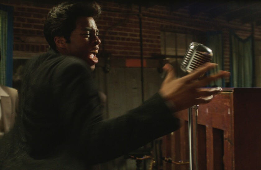 Chadwick Boseman as James Brown.