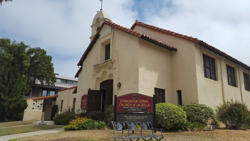 The Congregational Church of La Jolla at 1216 Cave St. is 100 years old this month.