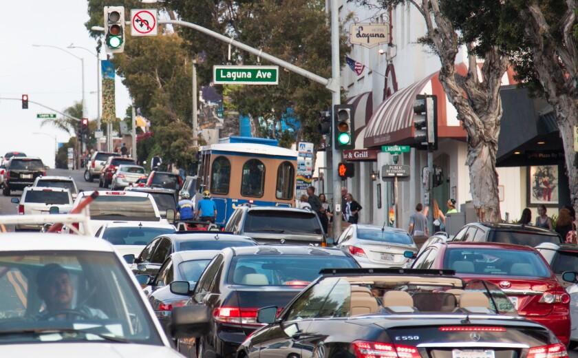 Laguna Beach traffic