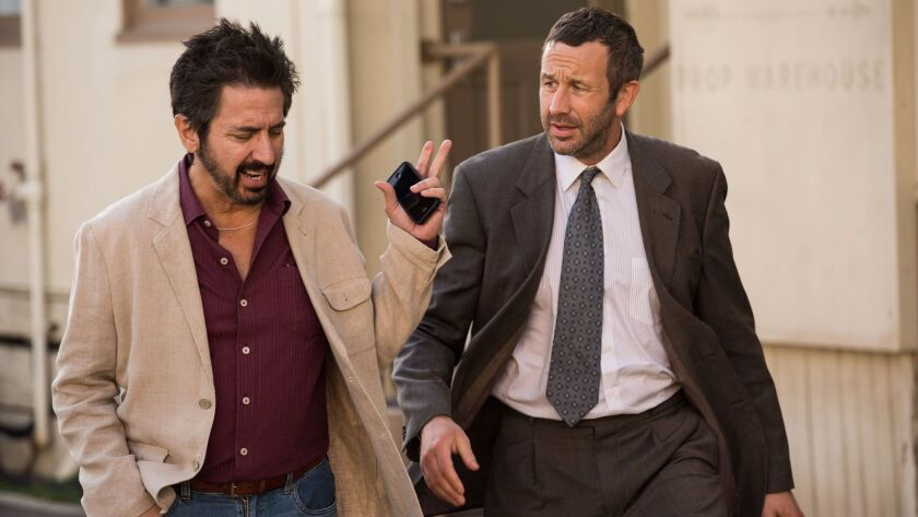 """Ray Romano, left, and Chris O'Dowd in a scene from """"Get Shorty."""""""