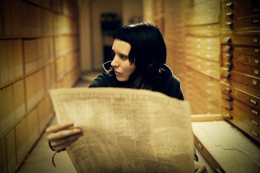 "Rooney Mara as Lisbeth Salander in David Fincher's adaptation of ""The Girl With the Dragon Tattoo."""