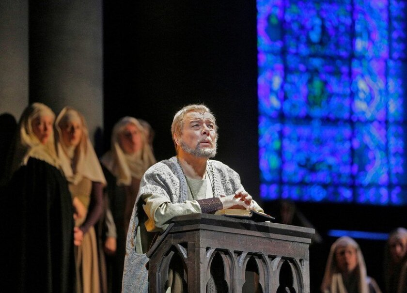 """Ferruccio Furlanetto as Thomas Becket in """"Murder in the Cathedral"""" Photo: Ken Howard/San Diego Opera"""