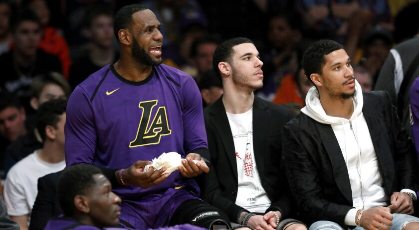 Lebron James Would Welcome Lonzo Ball To Nike But Is Mostly Proud He S Taking Control Los Angeles Times