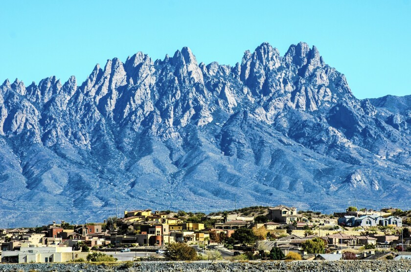 The Organ Mountains in New Mexico