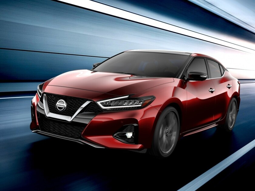 The 2019 Maxima, the flagship of Nissan's sedan lineup, goes on sale in December.