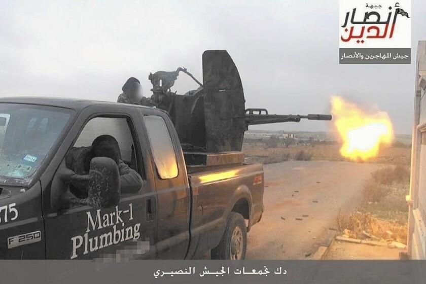 Plumbing truck in Syria