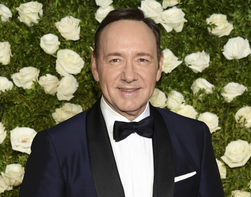 """FILE - In this June 11, 2017 file photo, Kevin Spacey arrives at the 71st annual Tony Awards at Radio City Music Hall in New York. A man accusing Oscar-winning actor Kevin Spacey of sexually abusing him in the 1980s when he was 14 cannot proceed anonymously in court, a judge ruled Monday. U.S. District Judge Lewis A. Kaplan in Manhattan refused to let the man proceed only as """"C.D."""" in a lawsuit filed in September in New York state court and later moved to federal court. (Photo by Evan Agostini/Invision/AP, File)"""