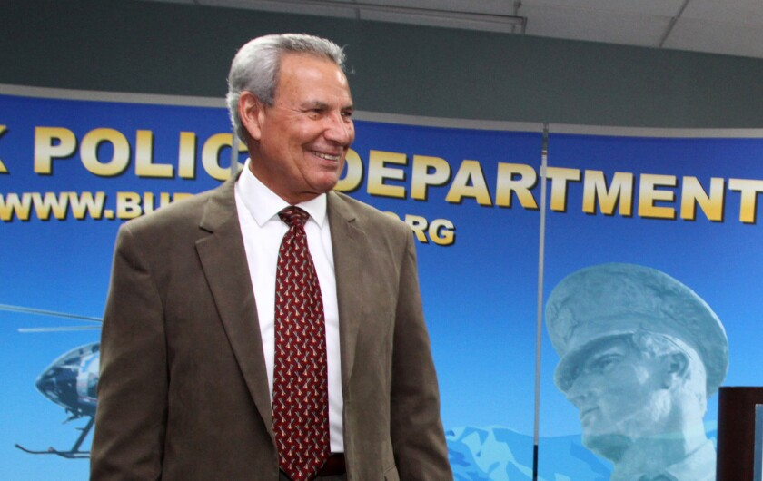 Tom Angel forwarded offensive emails during his time as a deputy chief with the Burbank Police Department.