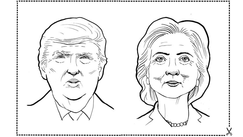 Enter the official Union-Tribune presidential coloring
