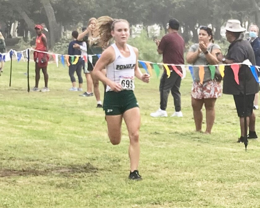 Mackenzie Rogers during one of her races.