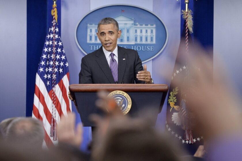 President Obama answers questions from reporters on the Affordable Care Act.