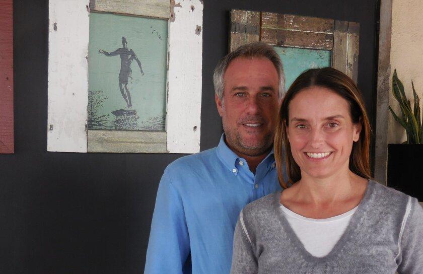 Zel's Del Mar owners Greg Glassman and Jennifer Powers.
