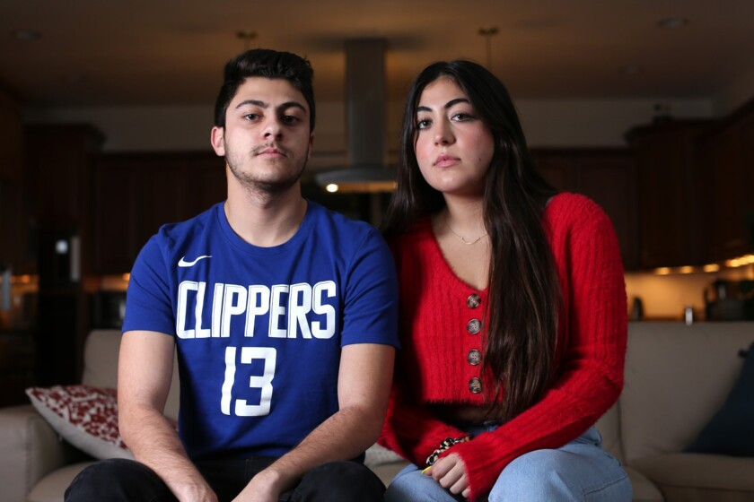 Darian Vaziri and his sister Kiara Vaziri along with their parents were held at the Canadian border in Blaine, WA for hours.
