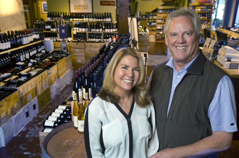 Gary and Lori Parker are celebrating their 25th year in business at The WineSellar & Brasserie in Sorrento Mesa. Bill Wechter