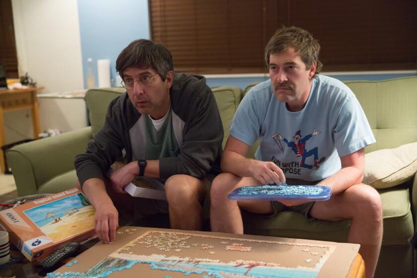 "Ray Romano and Mark Duplass in Netflix's ""Paddleton."""