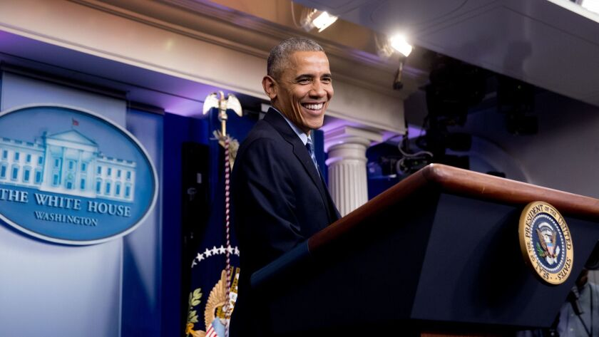 President Obama holds a news conference at the White House on Dec. 16.