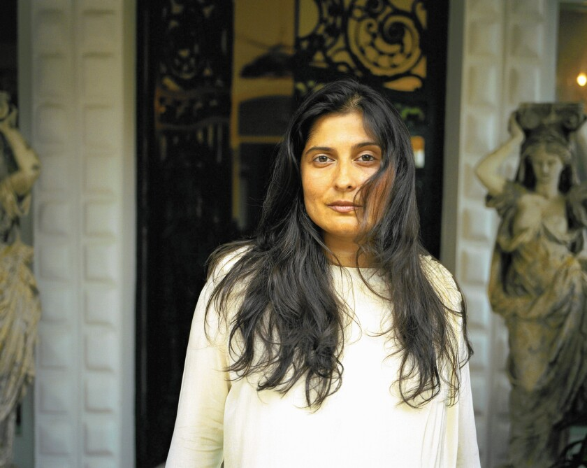 "Director Sharmeen Obaid-Chinoy on the set of her documentary movie ""Song of Lahore."""