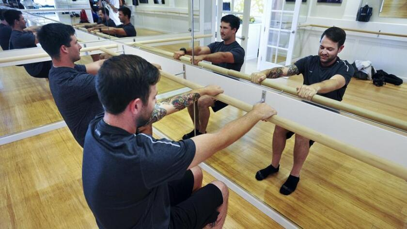 Studio Barre Bird Rock's Boys and Beer and Men and Margaritas classes on Fridays are free for the guys, and guaranteed to sweat the what-kind-of-dude-works-out-on-a-ballet-bar attitude right out of you. (Rick Nocon)