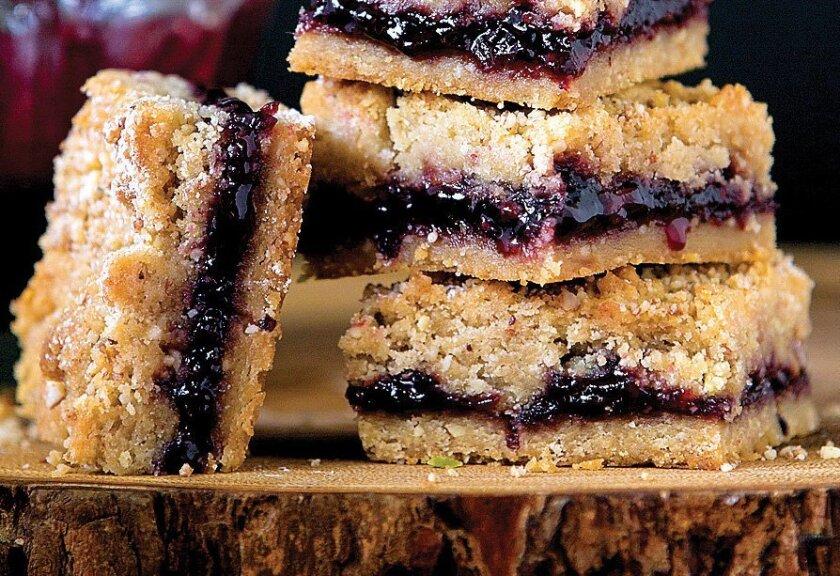 Blackberry Jam and  Brown Sugar Shortbread Bars.