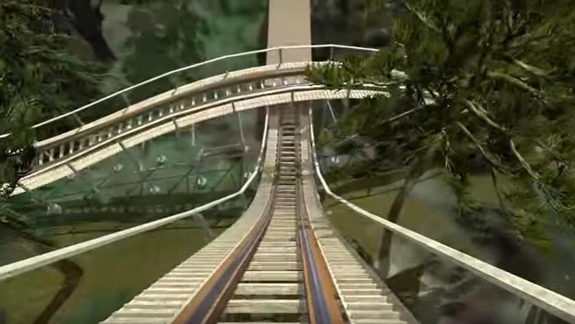 InvadR coaster at Busch Gardens Williamsburg