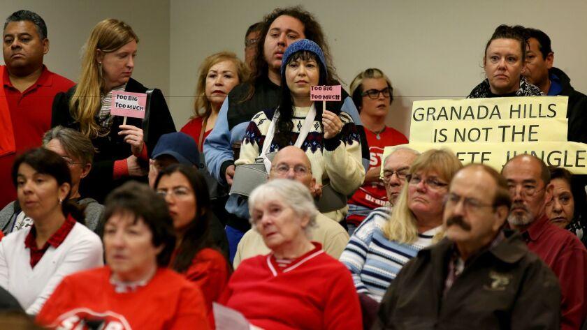 Hearing for Granada Hills development project