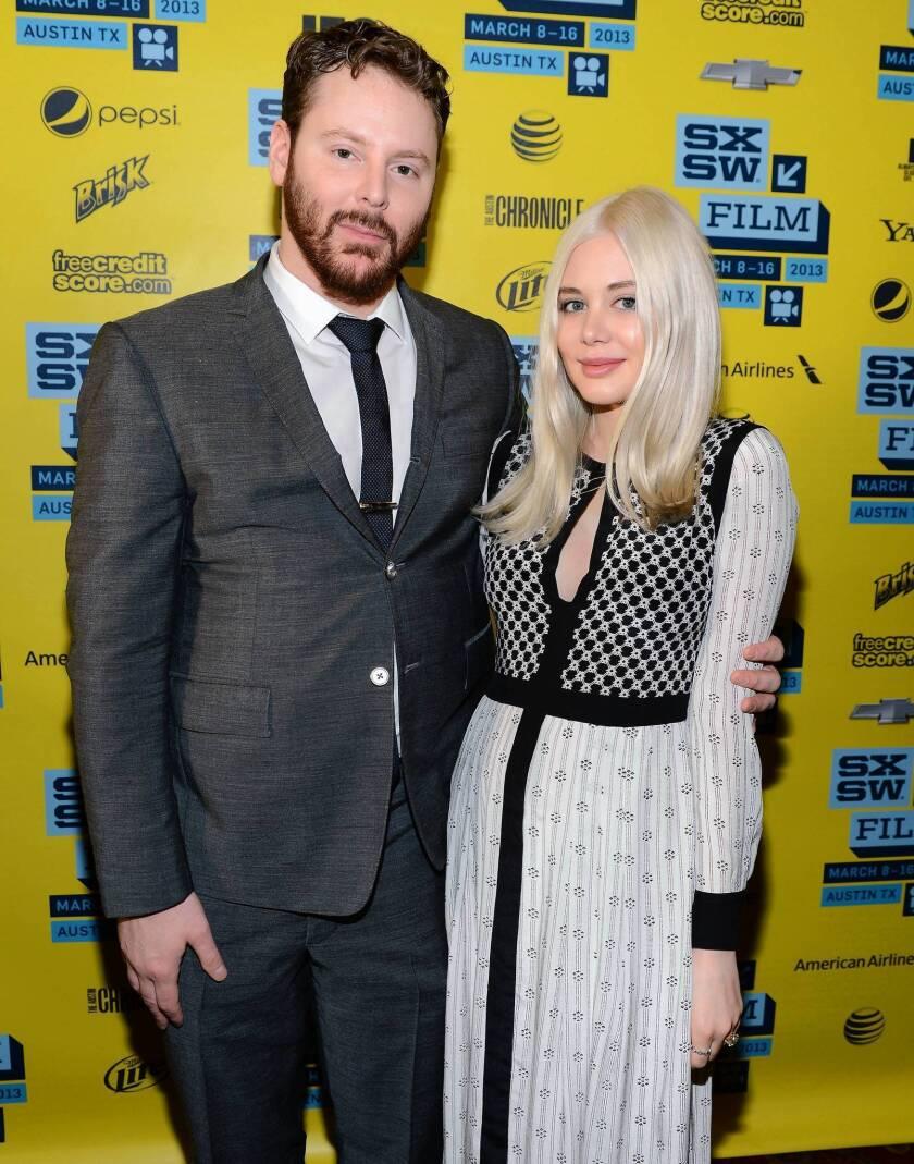 Tech entrepreneur Sean Parker with his fiancee, singer-songwriter Alexandra Lenas.