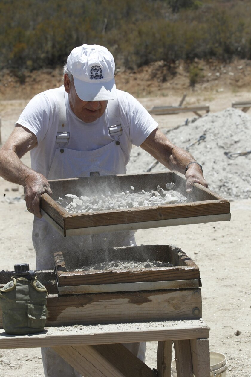 A working gem mine near Pala gives tourists and miners alike a