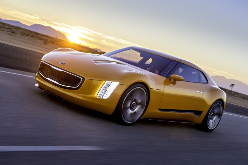 Kia debuted this GT4 Stinger concept at the 2014 North American International Auto Show in Detroit. The car is a rear-wheel-drive coupe powered by a 315-horsepower turbocharged four-cylinder engine.