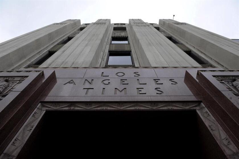 Vista de la torre del Los Angeles Times en Los Ángeles, California (EEUU). EFE/Archivo