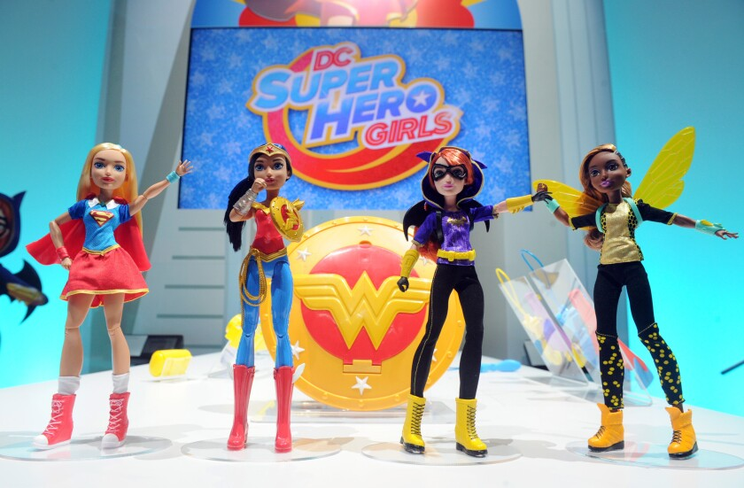 DC Super Hero Girls figures at the New York Toy Fair.
