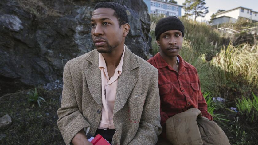 (L-R)- Jonathan Majors stars as Montgomery Allen and Jimmie Fails as Jimmie Fails in THE LAST BLACK