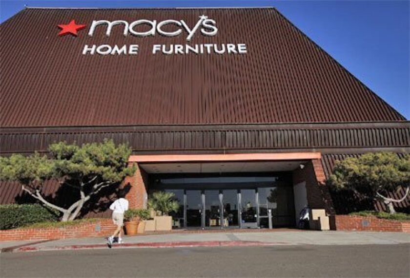 Department store Macy's also operates home furnishing stores such as this one in Mission Valley. The company is cutting jobs to reposition itself for 2010. (John R. McCutchen / Union-Tribune)