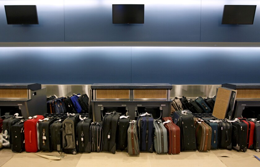 Baggage fees generated $900 million for the nation's airlines in the April-through-June period this year.