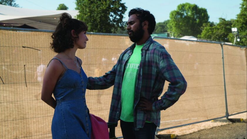 "Ellie (Lily James) and Jack Malik (Himesh Patel) in ""Yesterday,"" directed by Danny Boyle."