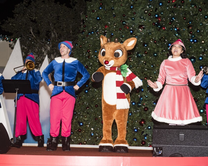 Rudolph and his friends at Rudolph's Christmastown.
