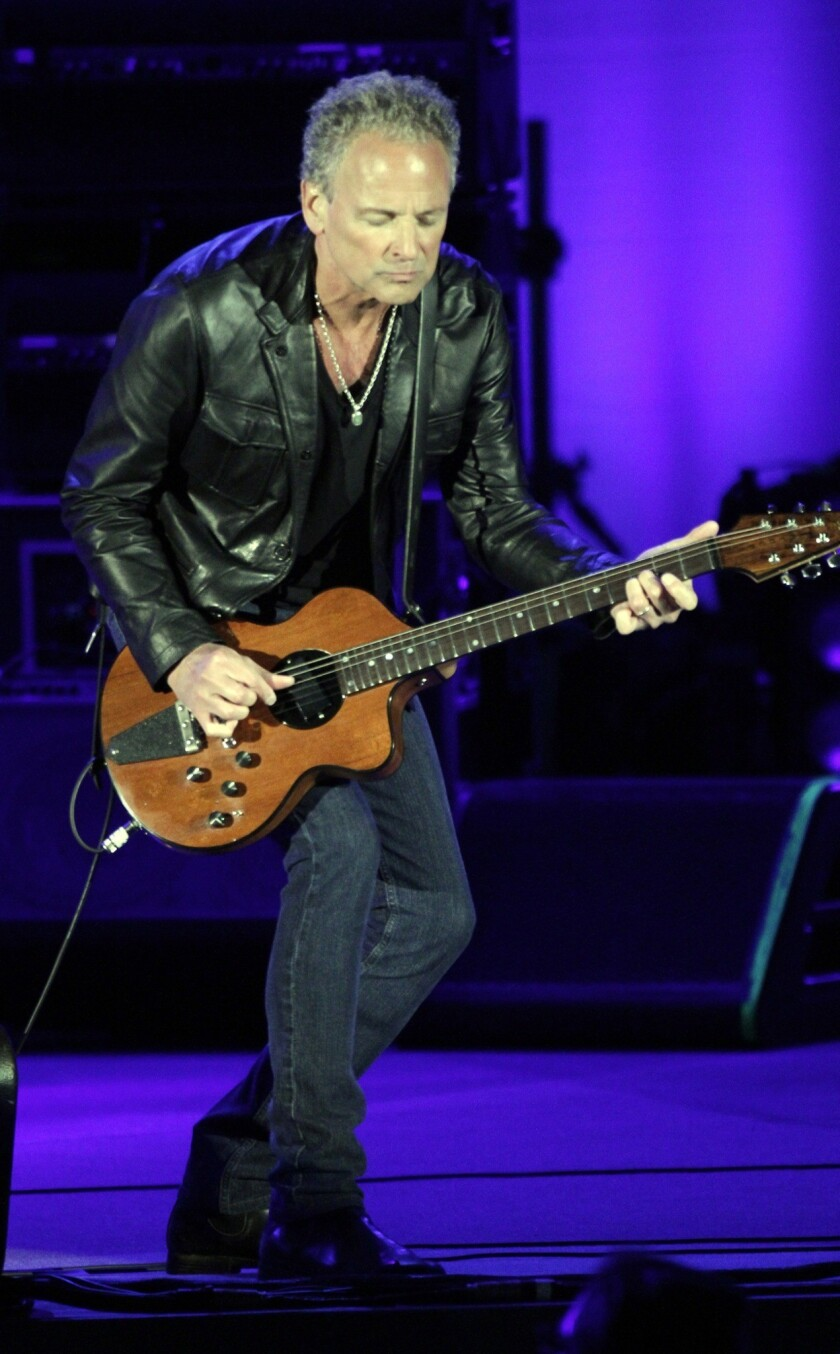 Lindsey Buckingham of Fleetwood Mac at their concert at the Hollywood Bowl in May of 2013.