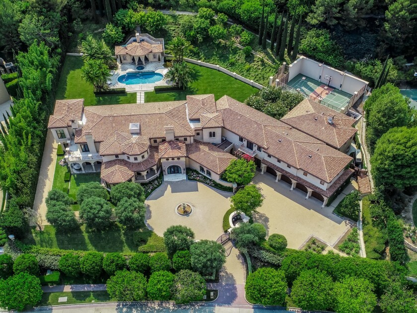 Aerial view of Beverly Park estate purchased by Sofia Vergara and Joe Manganiello
