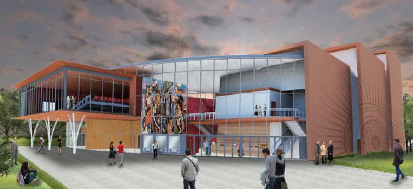 Southwestern College officials say money from Measure Z will be used to fund completion of the Performing Arts and Cultural Center, seen here in an artist's rendering.