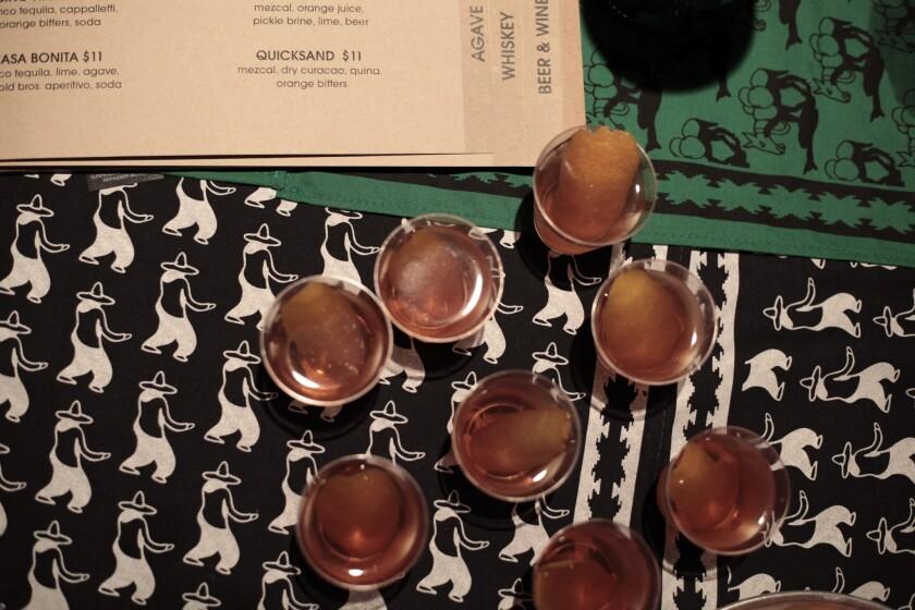 Mezcal samples