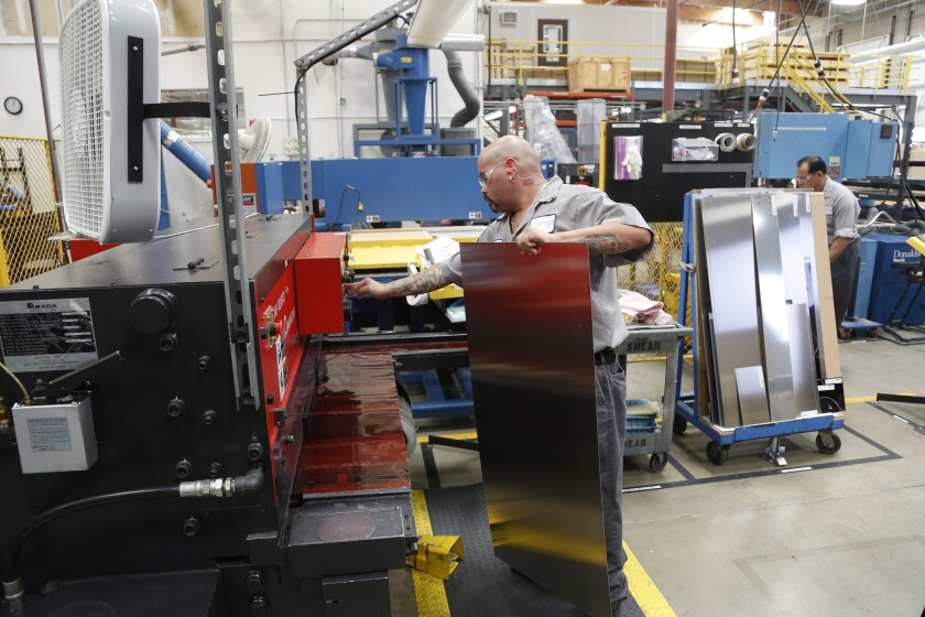 Lamsco West is among the Boeing suppliers concerned about the fate of the federal Export-Import Bank. Above, workers at Lamsco's Santa Clarita factory.