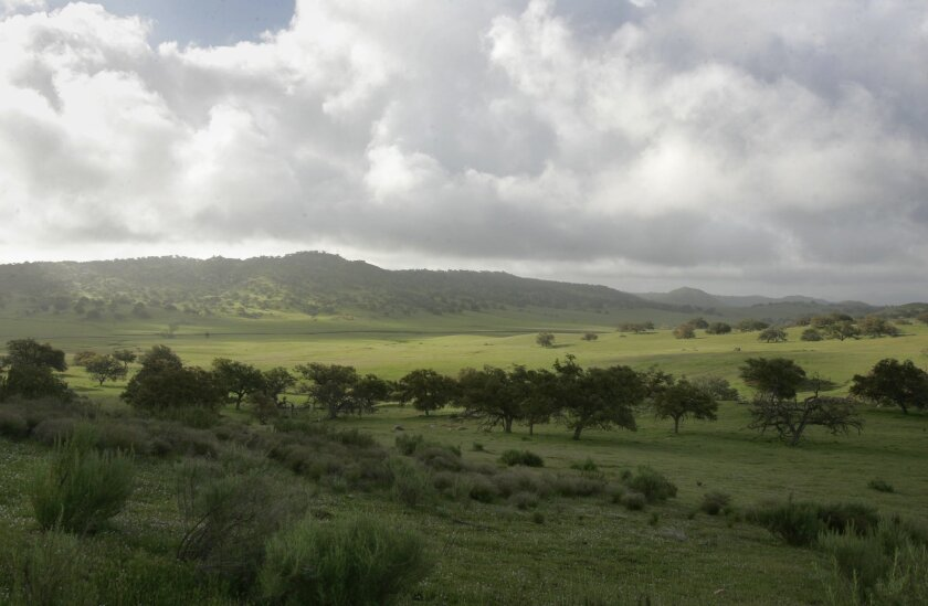 A portion of the northern part of Rancho Guejito.
