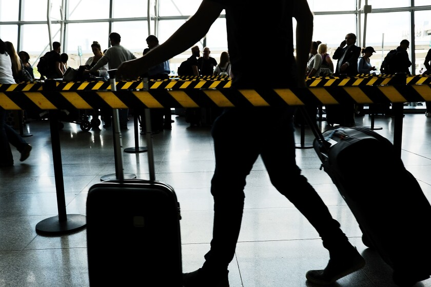 John F. Kennedy International Airport in New York before the coronavirus outbreak.