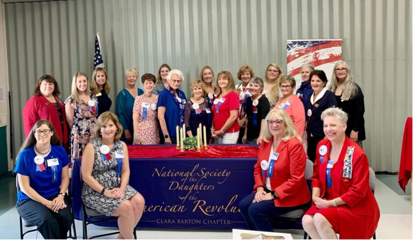The Clara Barton Chapter of DAR, based in Huntington Beach, recently welcomed 19 new members.