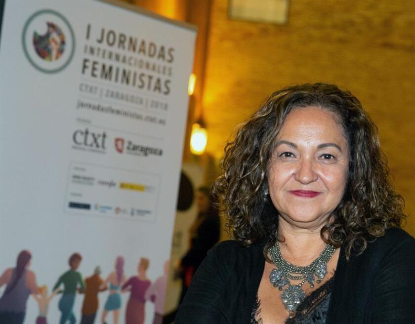 La periodista mexicana Sanjuana Martínez, que ha participado esta semana en las I Jornadas Internacionales Feministas que han reunido a más de treinta ponentes de diferentes países y a más de quinientas asistentes en Zaragoza. EFE